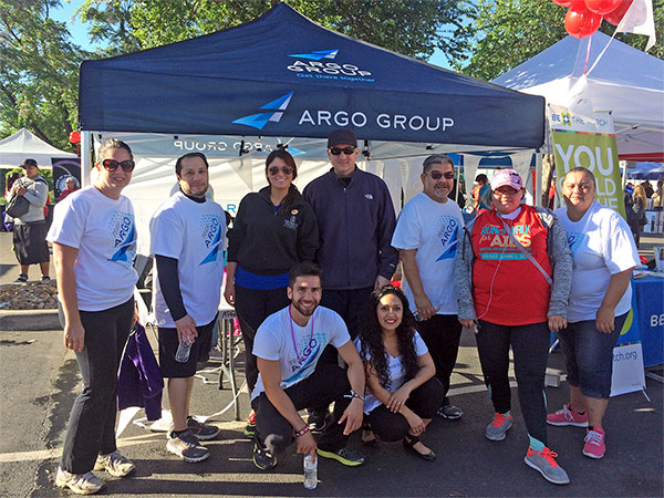 Group shot of Argo employees in running attire