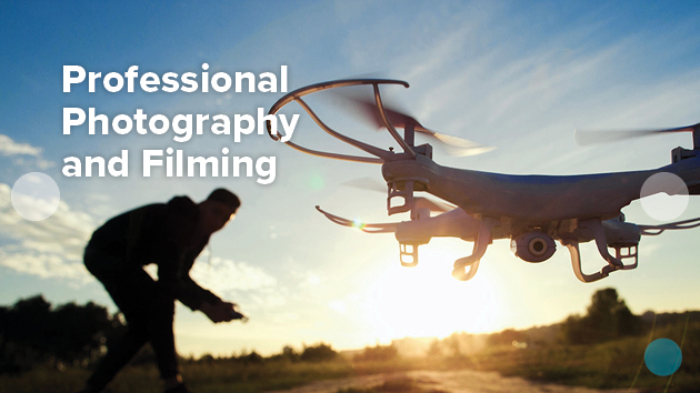 Professional photography and filming