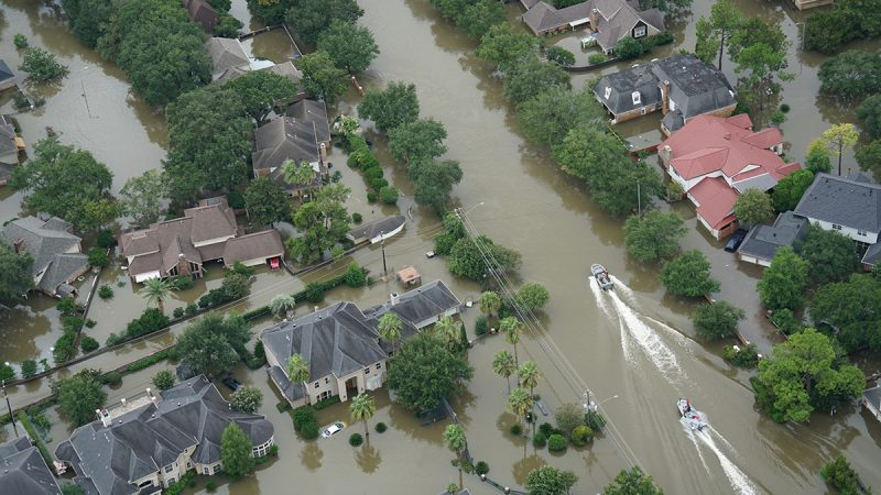Hurricane-Harvey-flooded-neighborhood