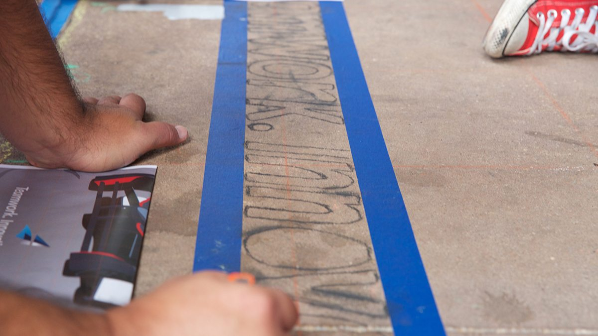 Close-up of Argo Group drawing during San Antonio's Chalk It Up event