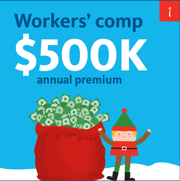 Workers' comp $500K annual premium