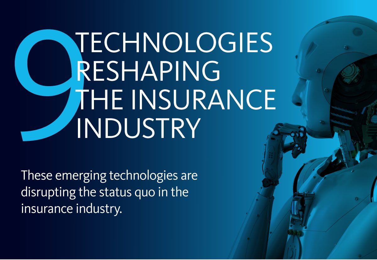 Graphic for the 9 Technologies Reshaping the Insurance Industry