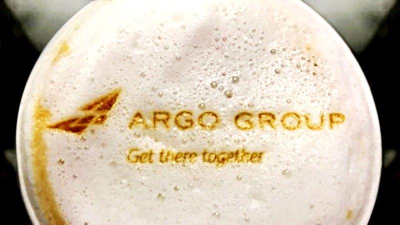Cappuccino foam with Argo branding
