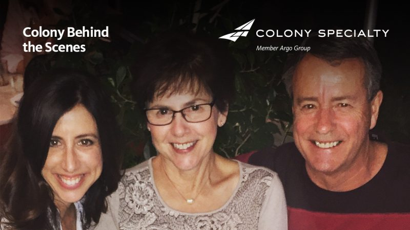 Colony Specialty employee Lindy Harlow posing with man and woman