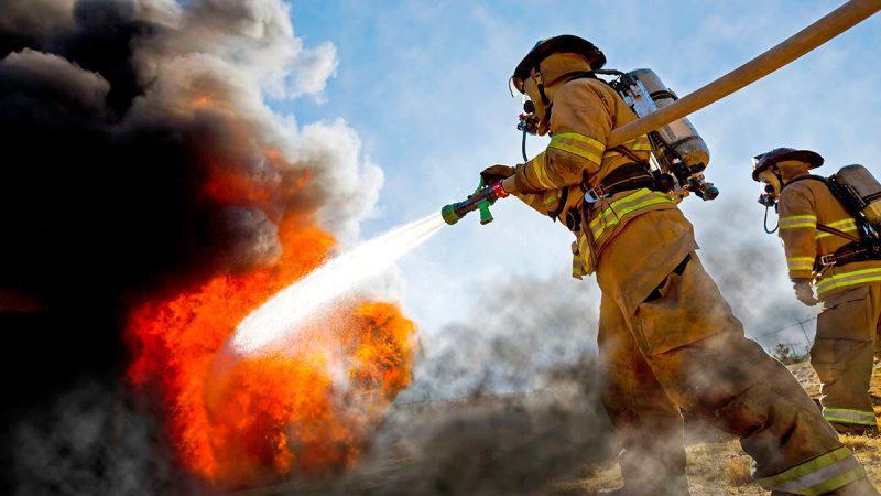 Firefighters battling intense blaze