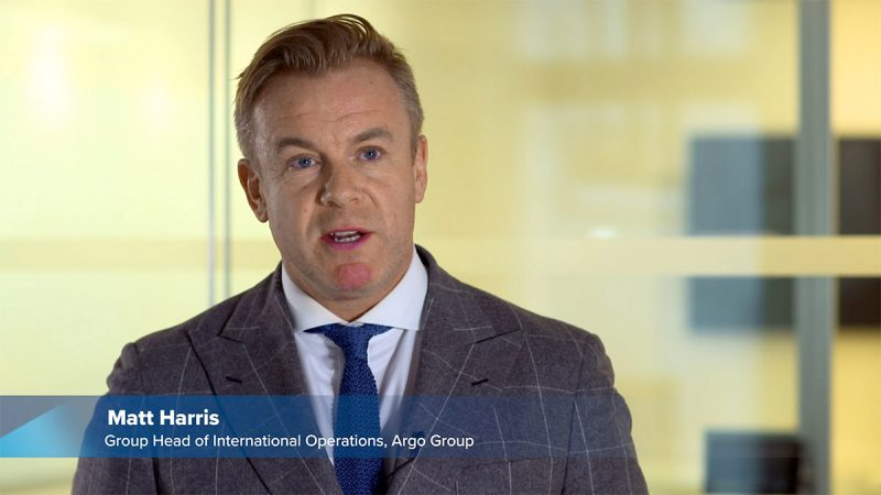 Group Head of International Operations at Argo Group Matt Harris