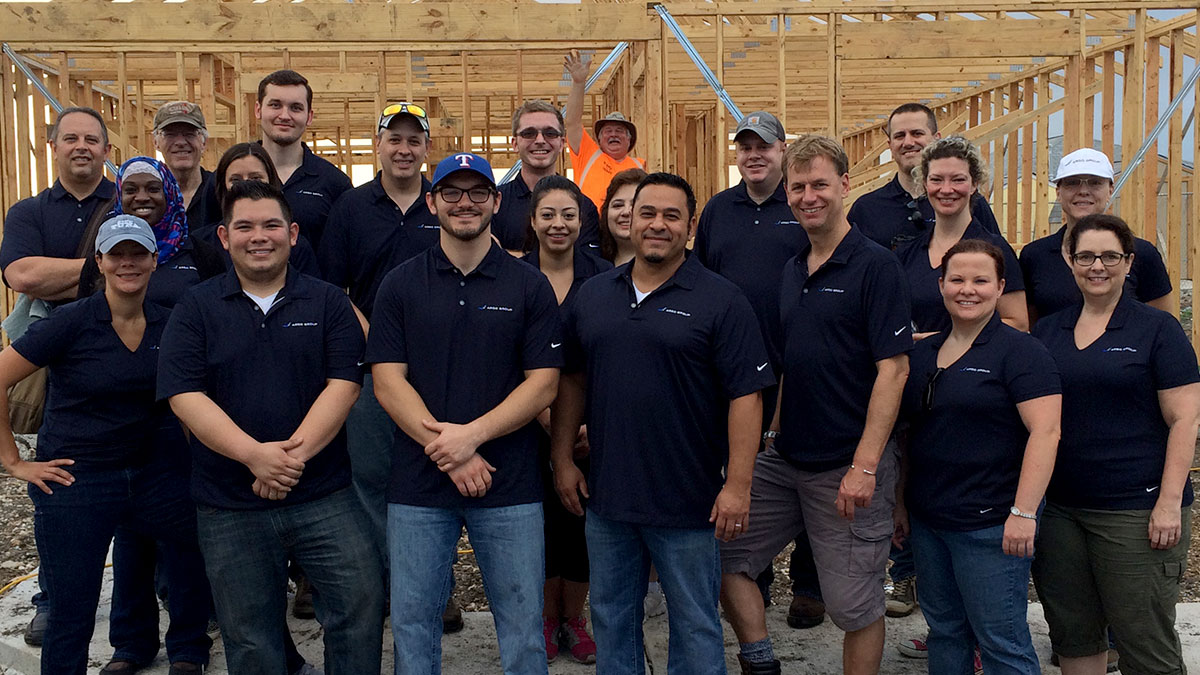 Argo Group's internal audit team building a house for Habitat for Humanity