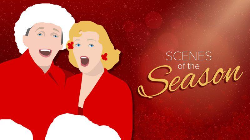 Scenes of the Season couple singing dressed as Santa
