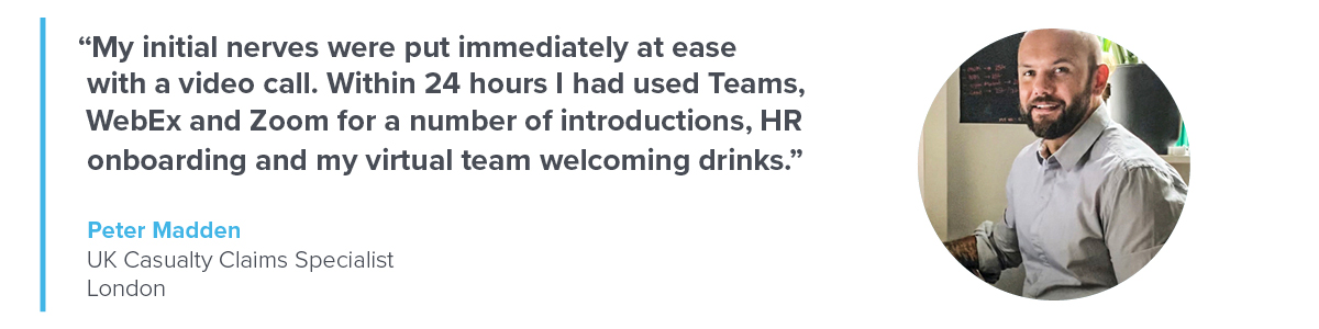 Quote from Peter Madden, UK Casualty Claims Specialist, London