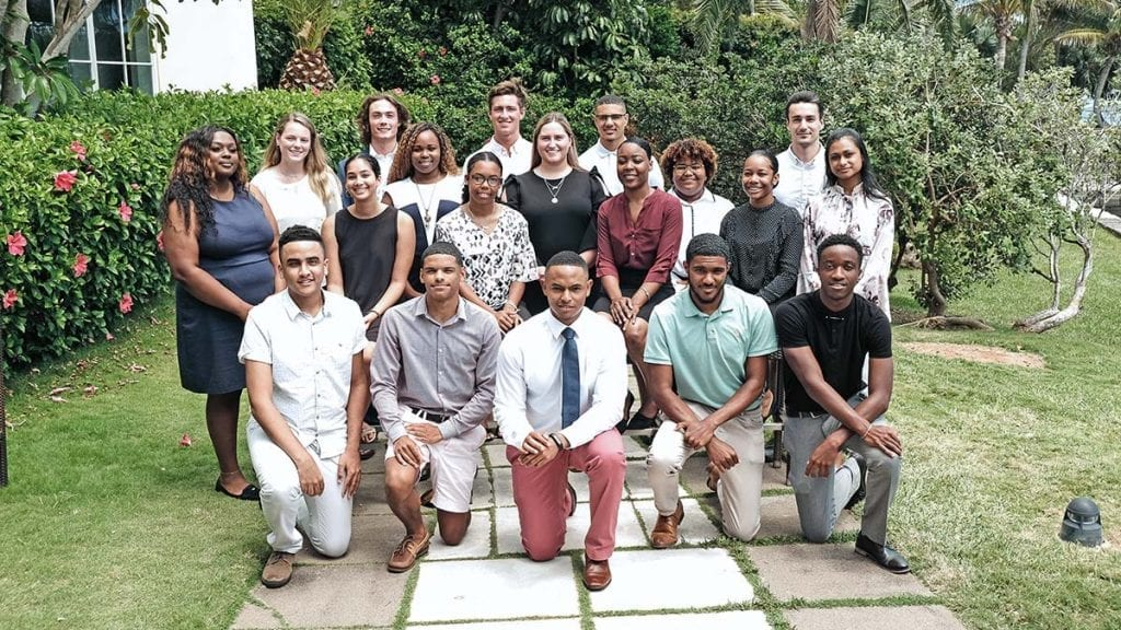 Group of young Bermudian scholarship recipients