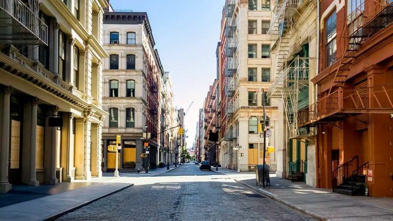 Deserted urban street
