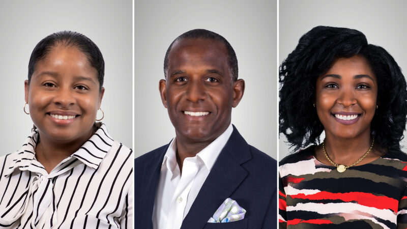 Professional headshots of Kimberly Lewis, VP, Professional Lines; Bill Wharton, Head of Argo Insurance; Donita Stevens, AVP, Professional Lines