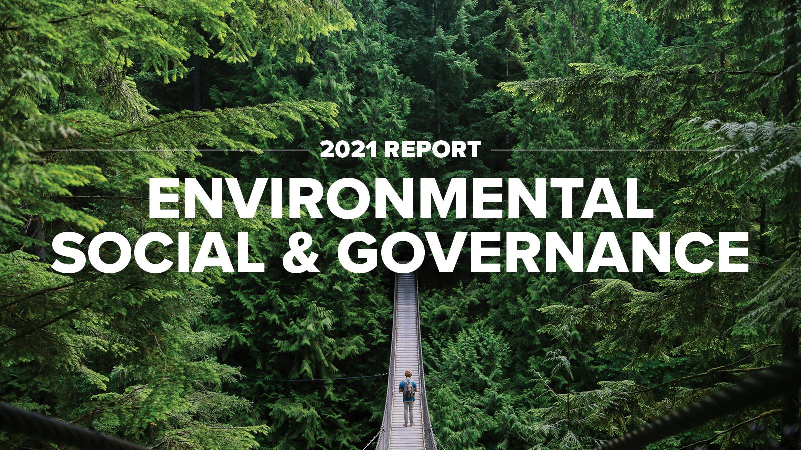 2021 ESG Report Cover